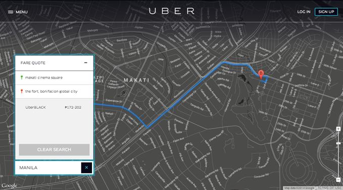 Uber fare quote