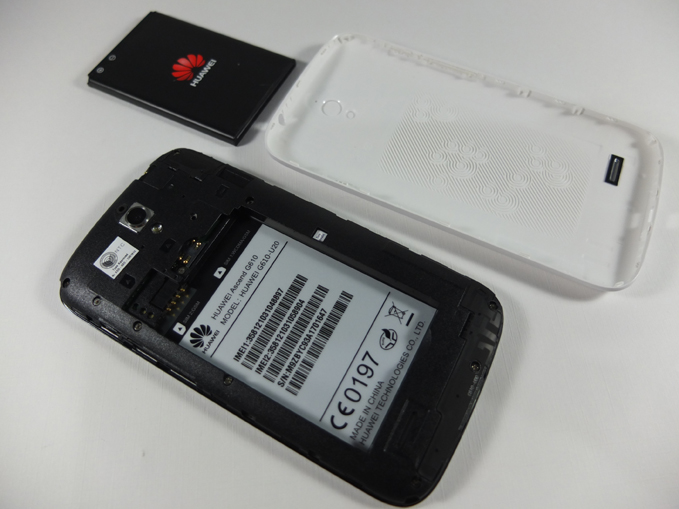 Huawei Ascend G610 Review - Back Cover Removed