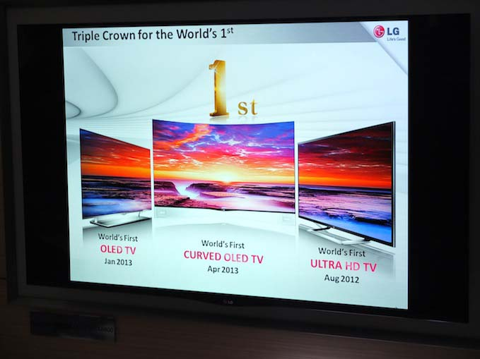 LG sets three world's first in the realm of television technology