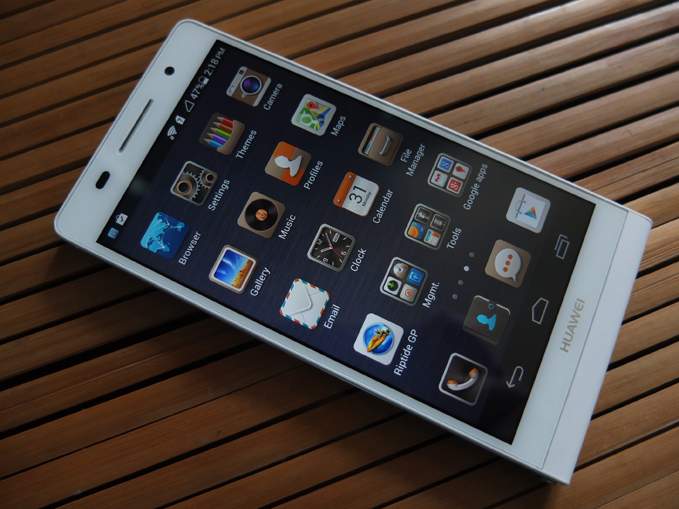 Huawei Ascend P6 Review Dark Theme
