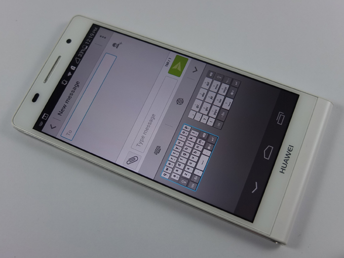 Huawei Ascend P6 Review Keyboard