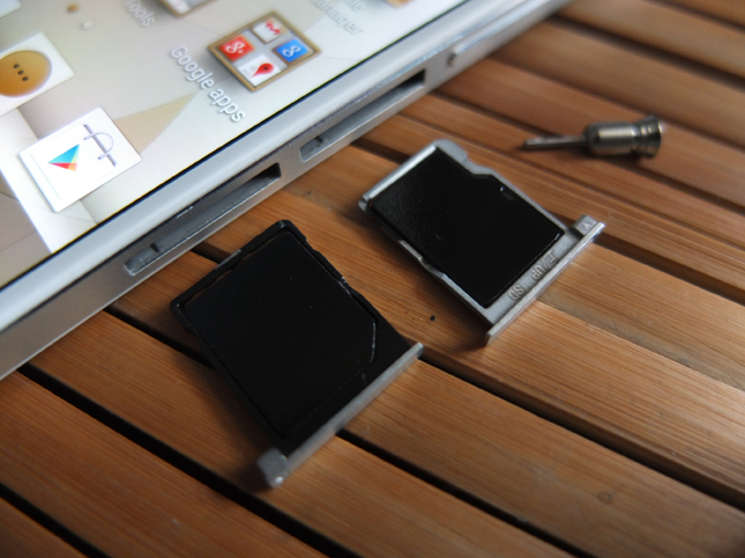 Huawei Ascend P6 Review SIM microSD card trays