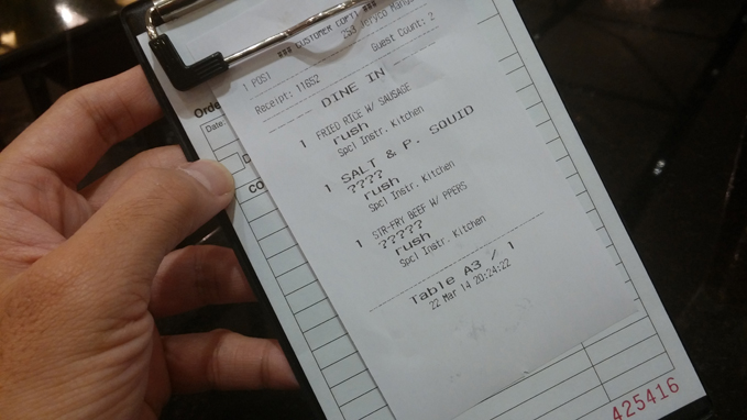 Lugang Cafe Order Clipboard