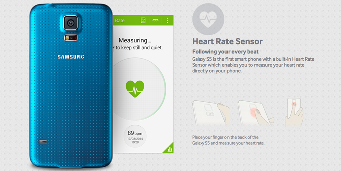 Samsung Galaxy S5 Heart Rate Monitor
