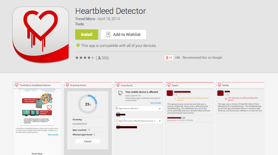 Trend Micro Heartbleed Scanner for Android