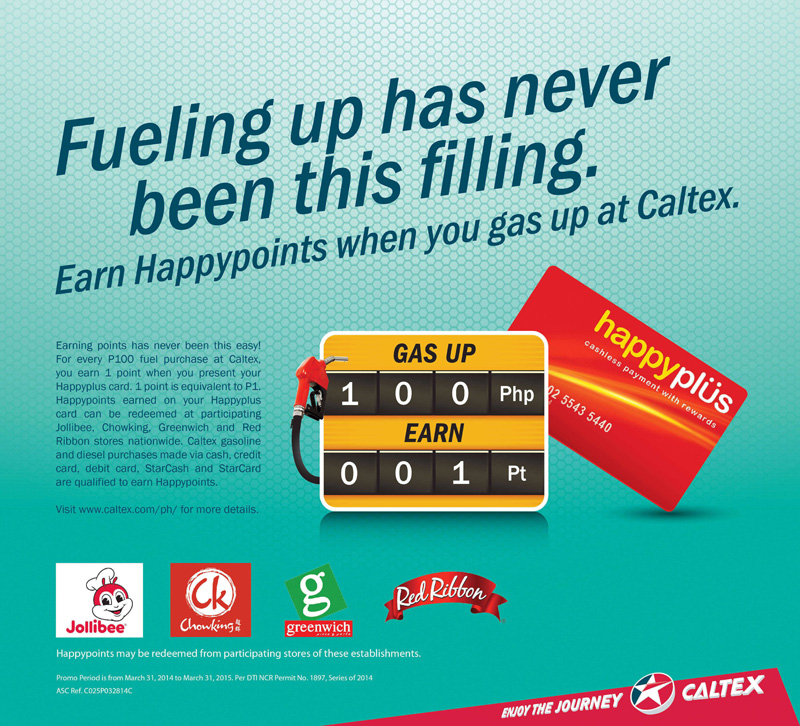 happyplüs members earn more points with Caltex gas ups_