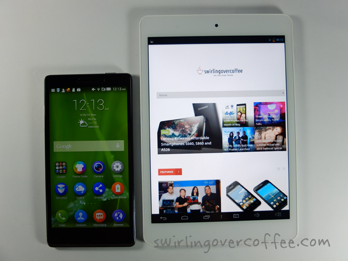 CloudPad 800w Lenovo Vibe Z comparison