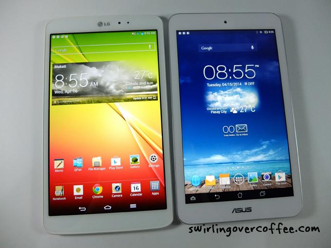 LG G Pad 8.3 Review ASUS MemoPad 8