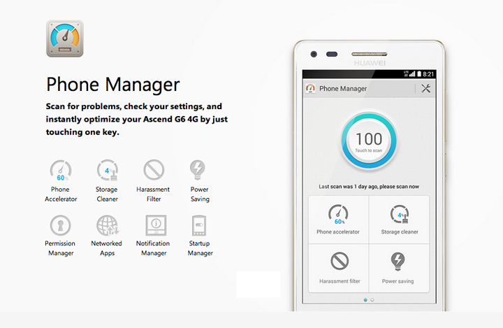Huawei Ascend G6 Phone Manager