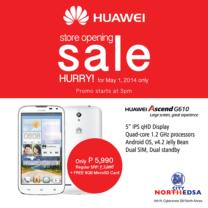 Huawei Philippines Opens Concept Stores, Offers One Day Sale of