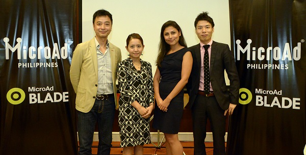 MicroAd Southeast Asia Principals(L-R) Mr. Kentaro Watanabe, CEO MicroAd Japan; Ms. Mio Matsumoto, APAC PR Director, MicroAd Southeast Asia; Farah Poole-Johnson, Director MicroAd Philippines; Kosuke Sogo, CEO MicroAd Philippines