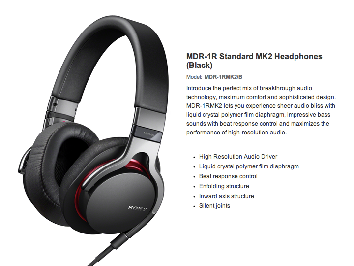 Sony High Resolution Audio Series MDR-1RMK2