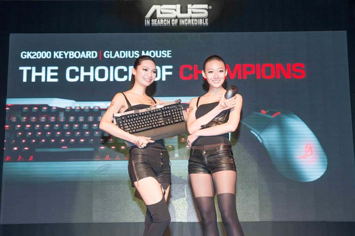 ASUS ROG GK2000 gaming keyboard and Gladius gaming mouse