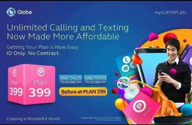 Globe Unli Call and Text and Additional Line Promo