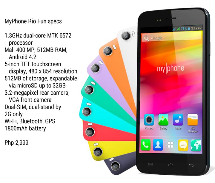 MyPhone Rio Fun Specs