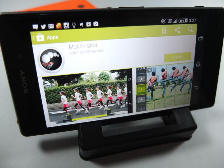 Xperia Z1 Camera Motion Shot App