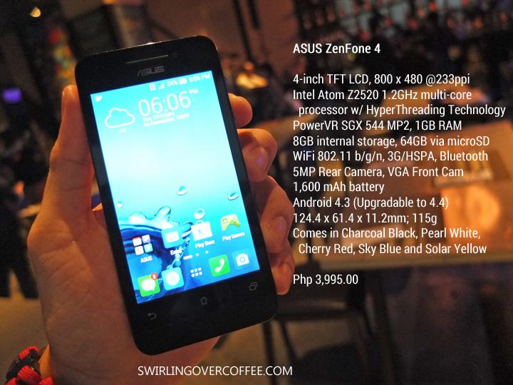 ASUS ZenFone 4 Specs