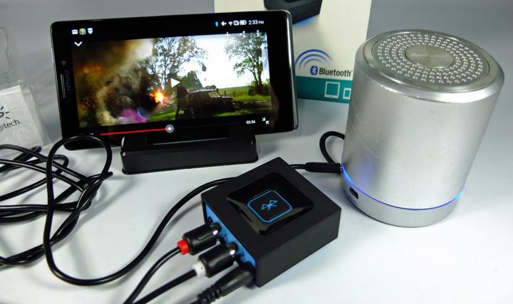 Logitech Bluetooth Audio Adapter Review Phablet Set up