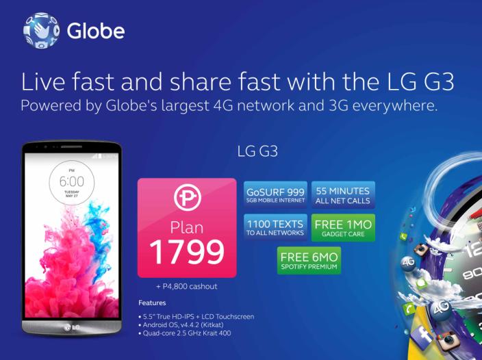 LG G3 Globe Plan 1799