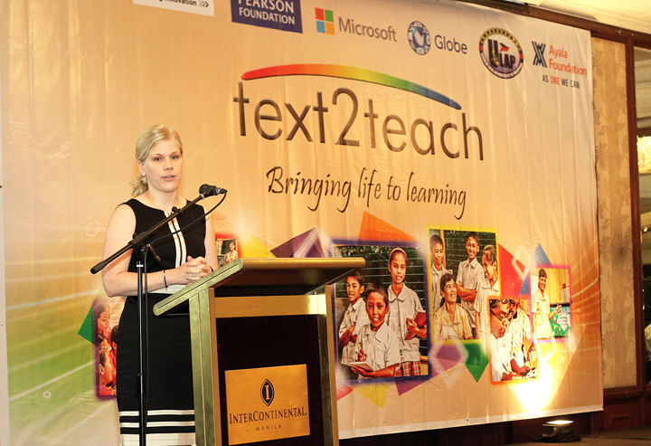 Sanna Eskelinen, Global Lead for Social Solutions, Microsoft Devices talks about Microsoft Education Development technology used for Text2Teach