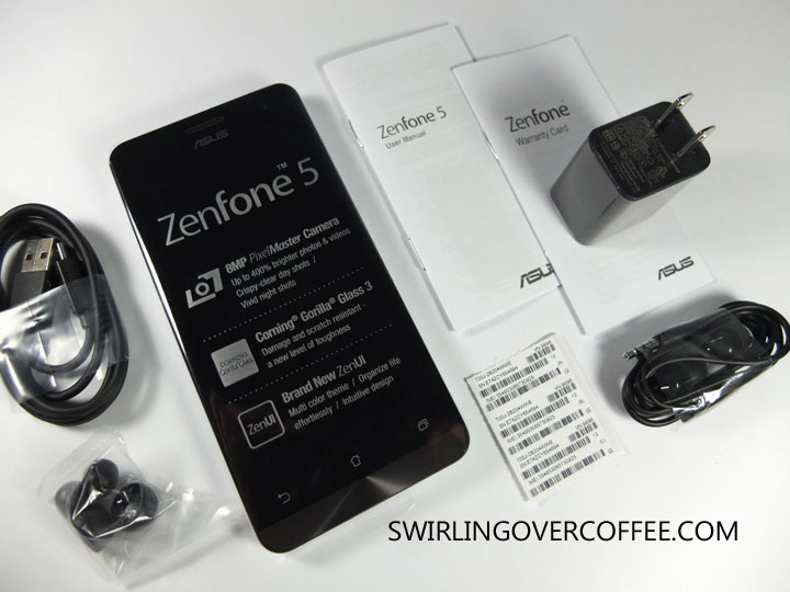 ASUS ZenFone 5 Unboxing Contents