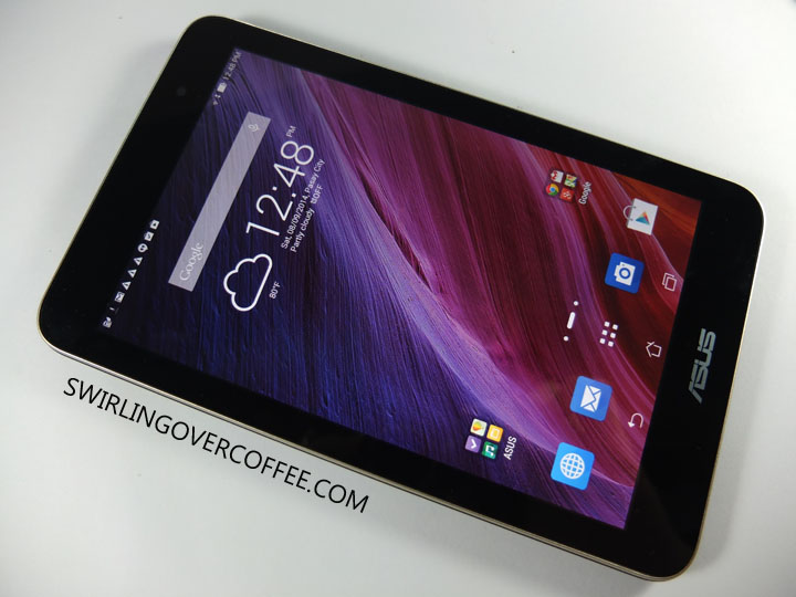 ASUS Memo Pad 7 Unboxing Home Screen