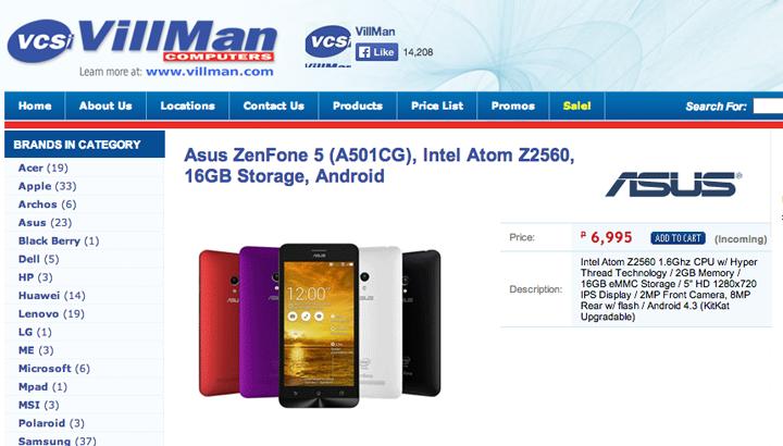 ASUS ZenFone 5 Villman