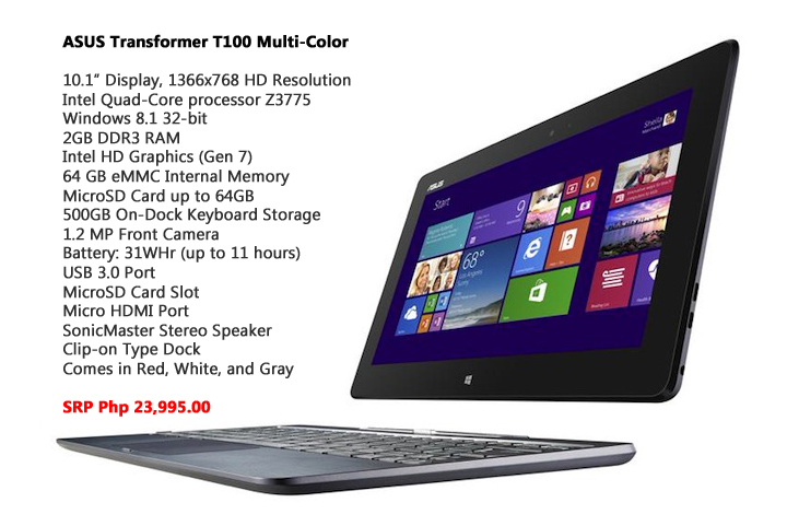 ASUS Transformer T100 Multi Color