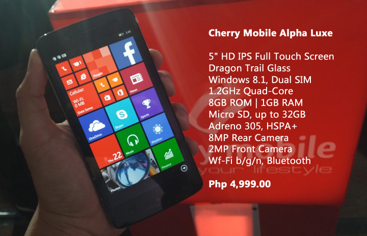 Cherry Mobile Luxe Specs
