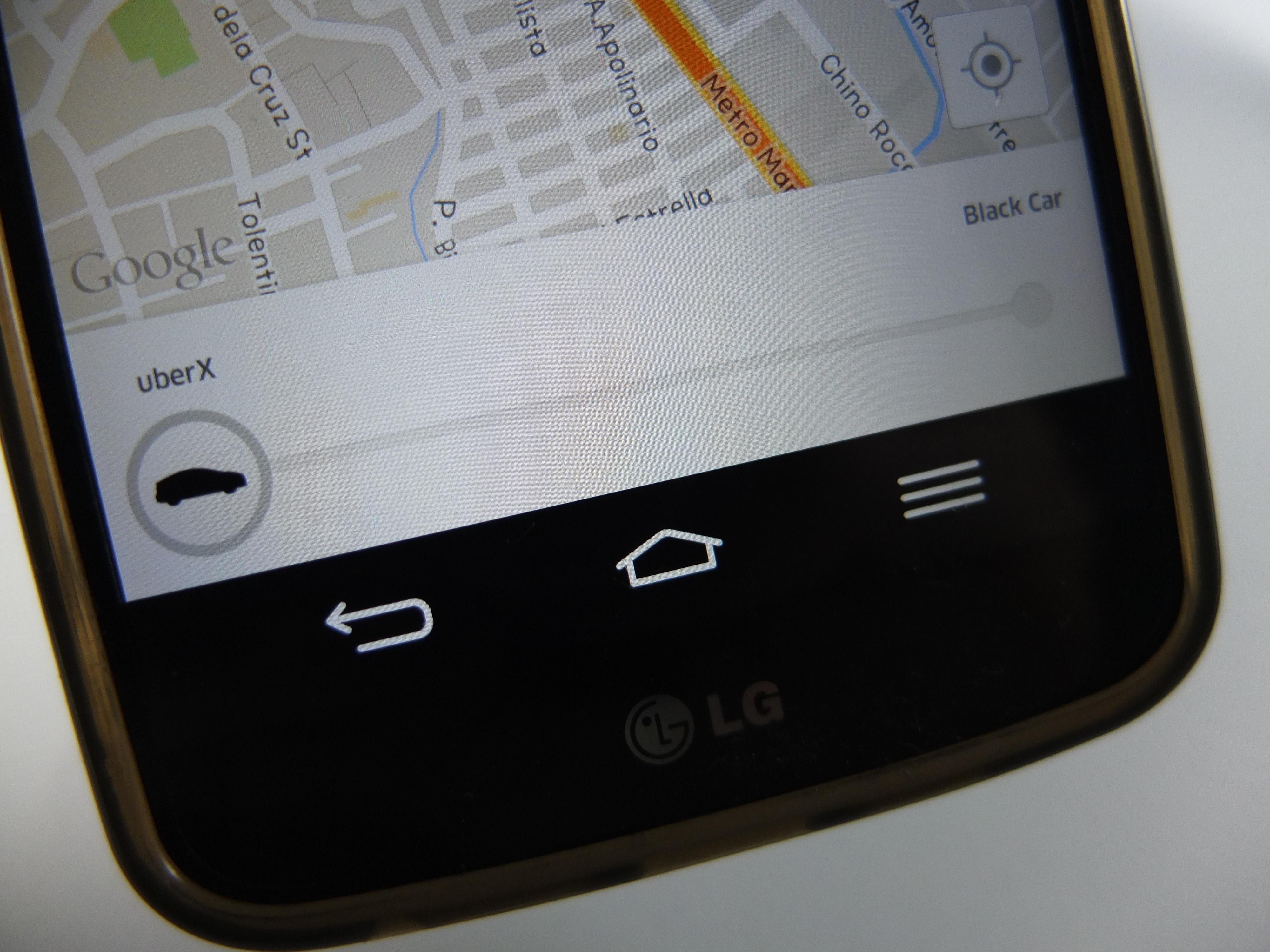 uberX phone shot