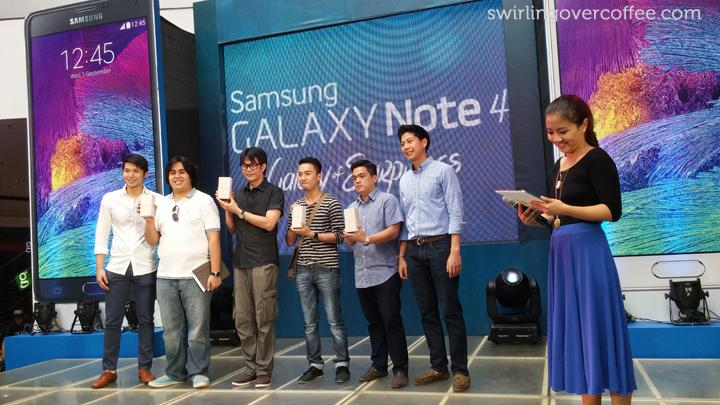 Note 4 Winners
