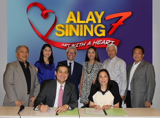 Alay Sining Rotary Club with Ayala Land executives