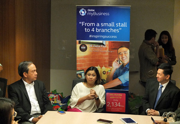 Globe myBusiness day, Gil Genio, Martha Sazon, and Ricardo Cuna