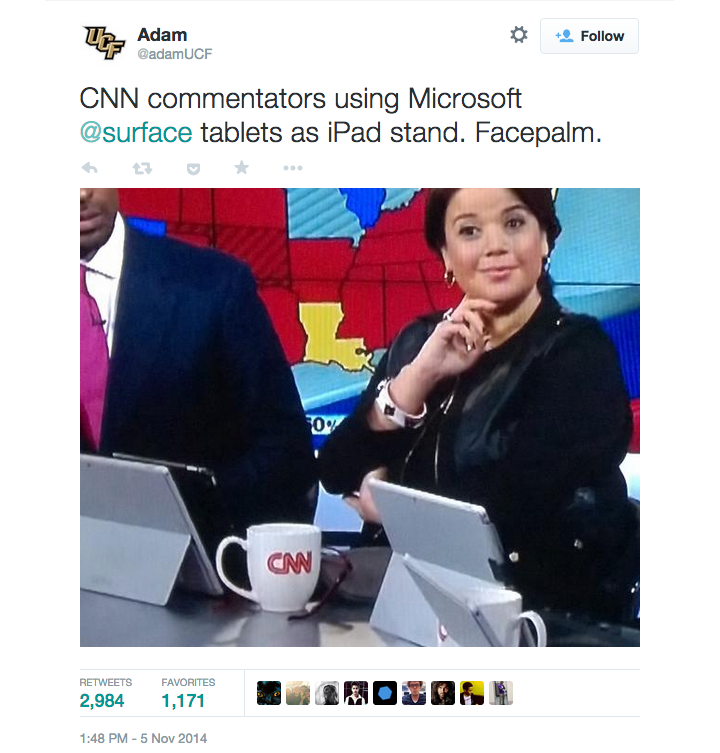 CNN uses Microsoft Surface Pro 3 as iPad Stand