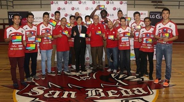 UAAP and NCAA champs embody LG G Pads Launch Your Life - San Beda small