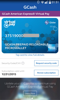 Activate Your GCash American Express Virtual Card and Shop Online