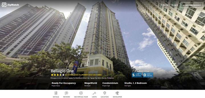 ZipMatch.com, ZipMatch Explore, property overview