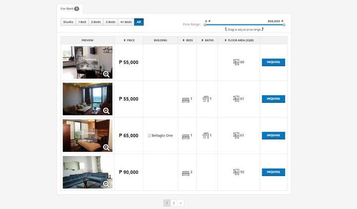 ZipMatch.com, ZipMatch Explore, Unit Listings