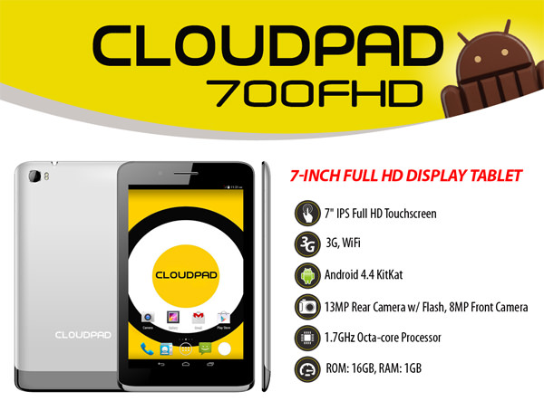 CloudPad 700FHD Product Sheet copy