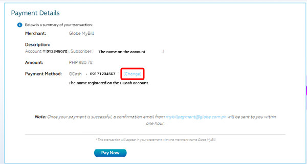 Globe Online Bills Payment Service 4 copy