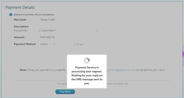 Globe Online Bills Payment Service 5 copy