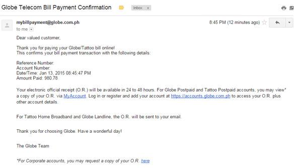 Globe Online Bills Payment Service 7 copy