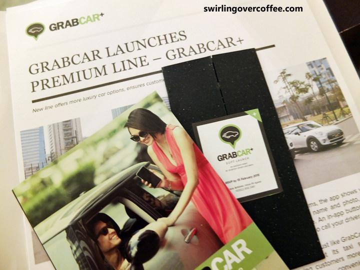 GrabTaxi, GrabCar+, GrabCar