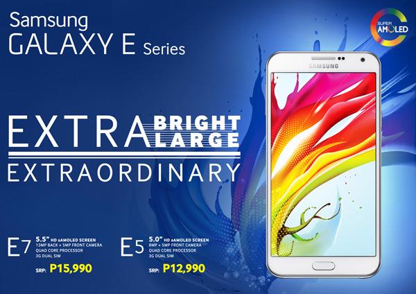 Galaxy E Series Promo