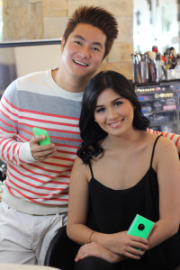 Jake Galvez and Yana Asistio with their Green Lumias