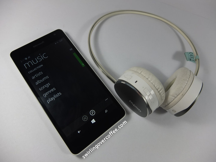 Lumia 535 Review, Rapoo S500 Bluetooth Headset