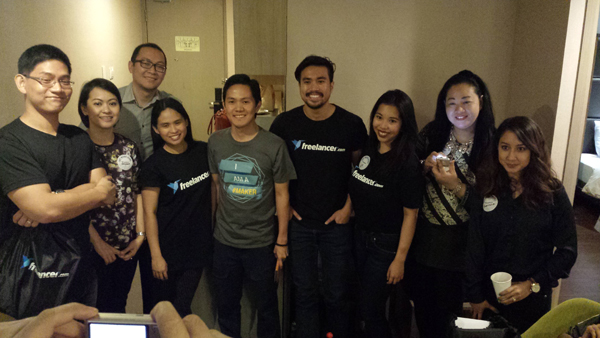 Team Freelancer and with some friends from the media
