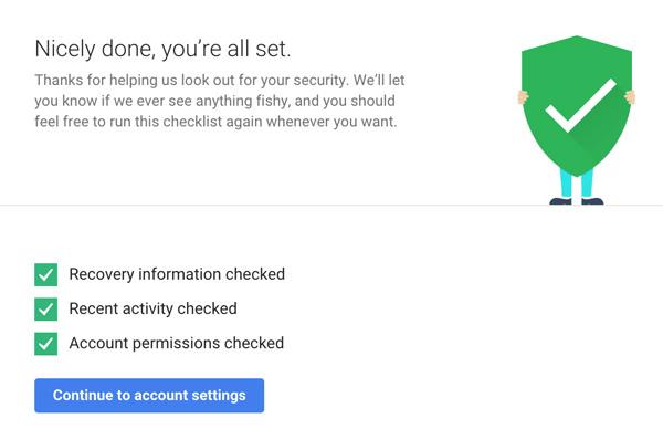 google checkup