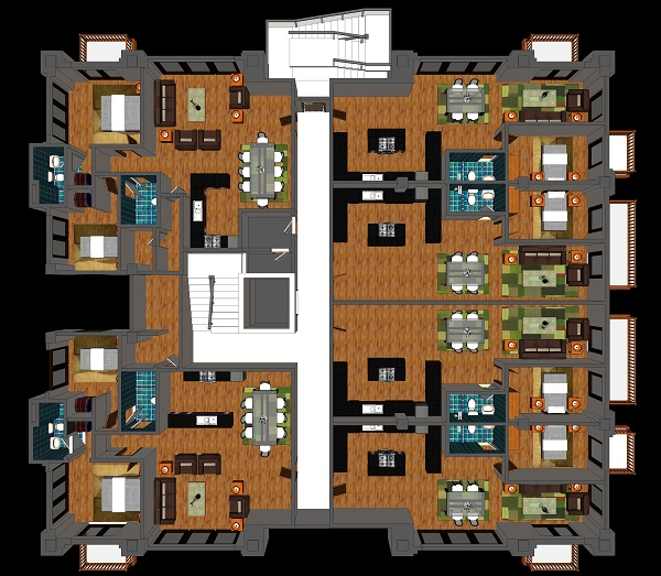 Hackett Hall 2nd and 3rd floor plan