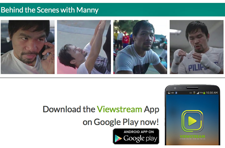Manny Pacquiao, Viewstream, Smart